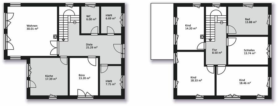 hausserie stadtvillen massiv bau haus hausbau in mecklenburg vorpommern. Black Bedroom Furniture Sets. Home Design Ideas