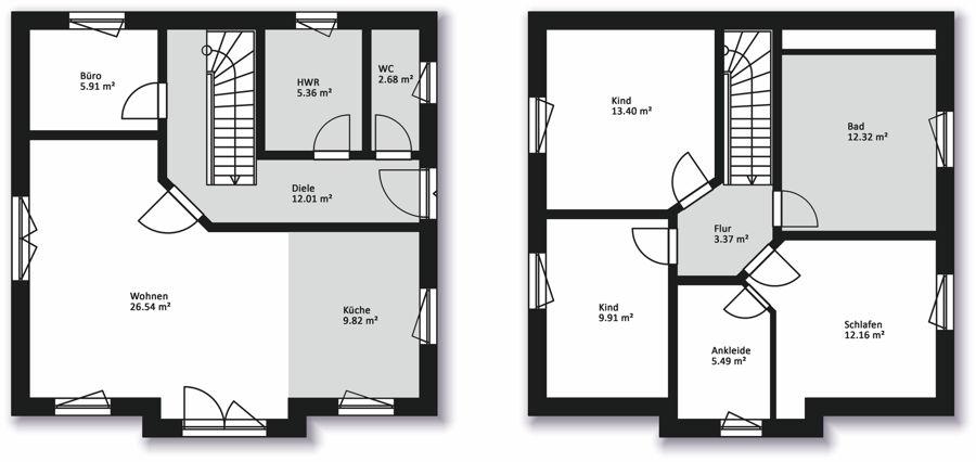 hausserie einfamilienh user massiv bau haus hausbau in mecklenburg vorpommern. Black Bedroom Furniture Sets. Home Design Ideas